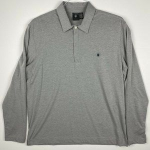 Victorinox Mens XL Tailored Fit 1/4 Zip L/S Polo